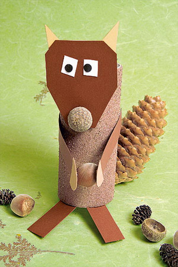41 squirrel paper roll crafts