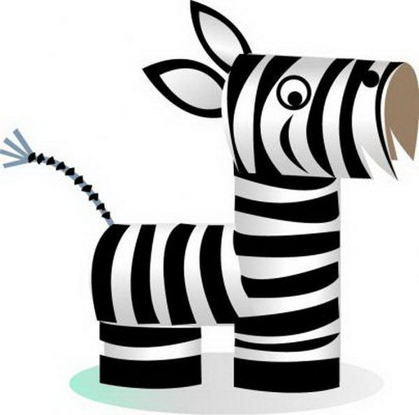 54 homemade zebra kid craft