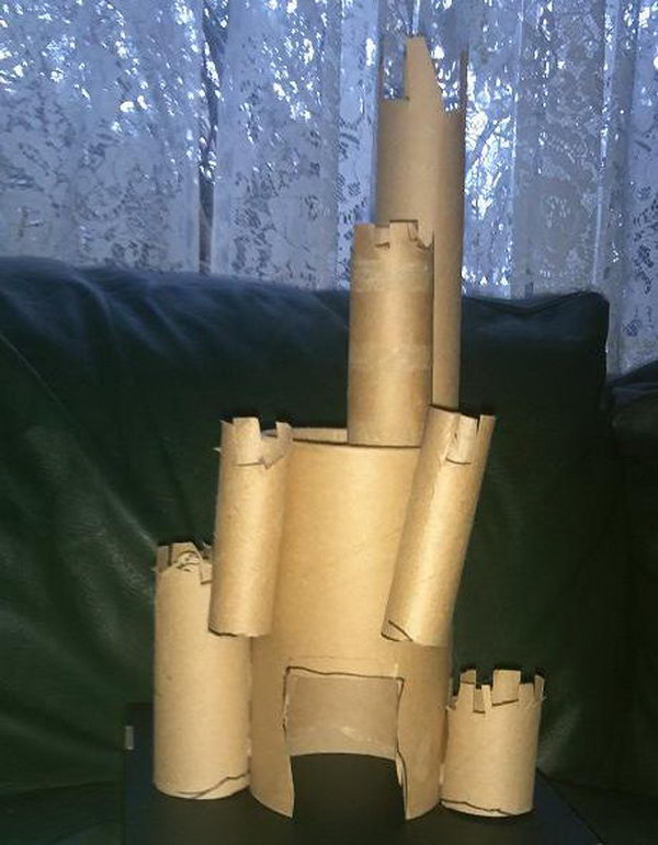15 toilet paper roll castle