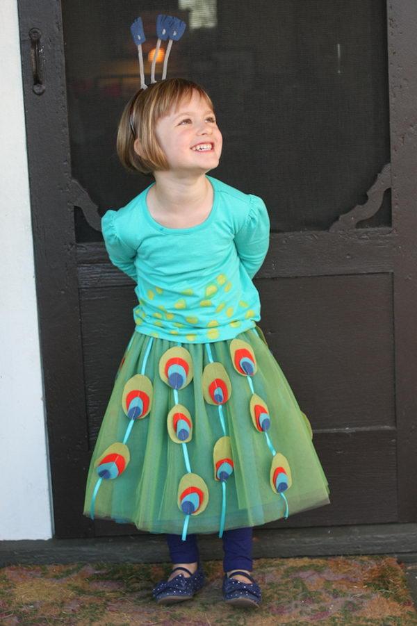 41 peacock kid costume idea