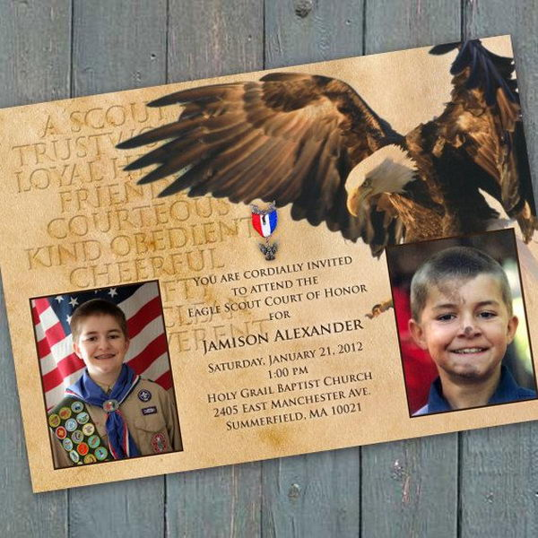9 boy scouts of america invitation