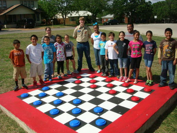 1 large checkerboard eagle scout