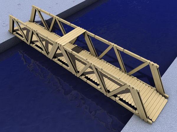 12 diy popsicle stick bridge craft