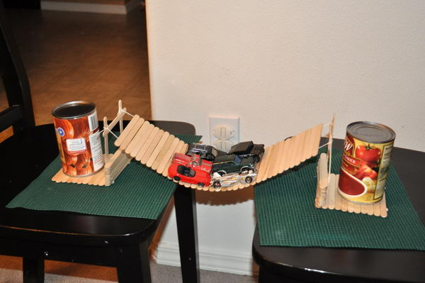 2 popsicle stick bridge for kid