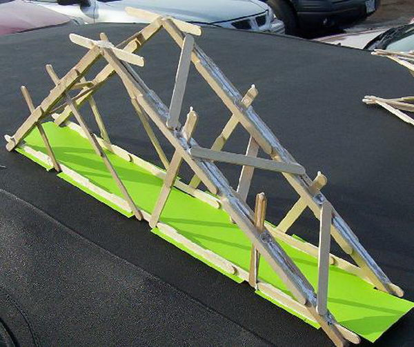 7 strong popsicle stick bridge