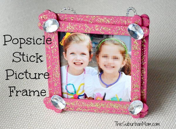 18 homemade stick picture frame