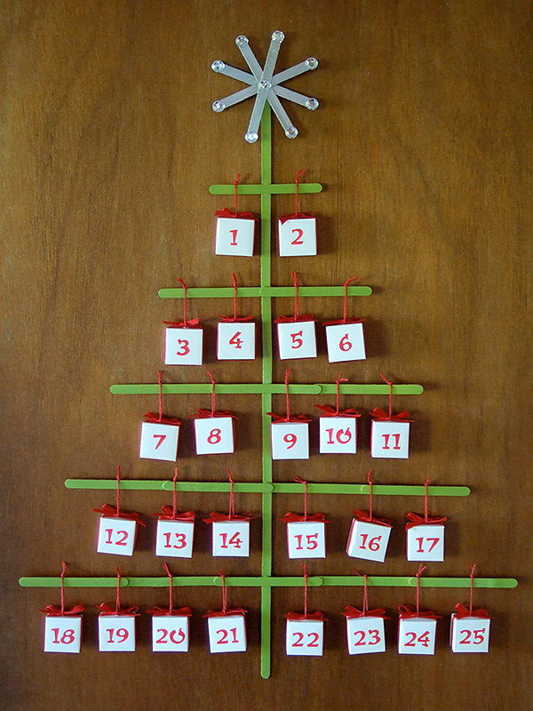 36 christmas tree advent calendar