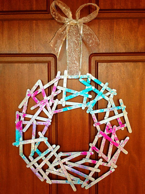 44 christmas wreath stick craft