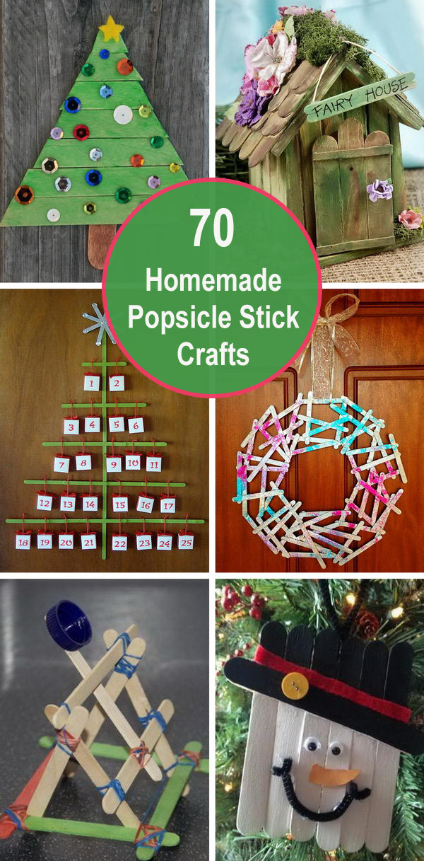 70+ Homemade Popsicle Stick Crafts.