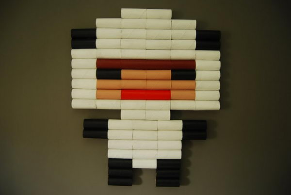 2 toilet roll pixel boy