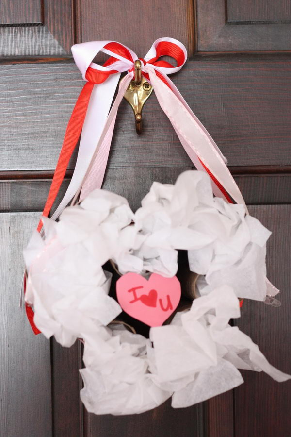 8 valentines wreath