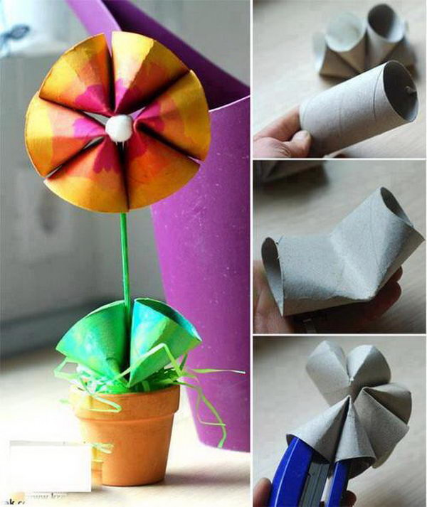 58 toilet paper roll flower