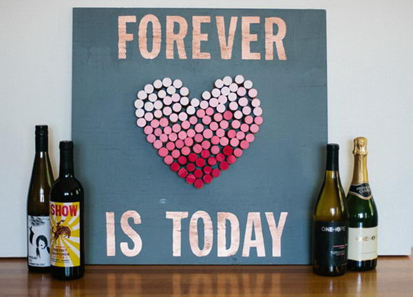 11 wine cork heart