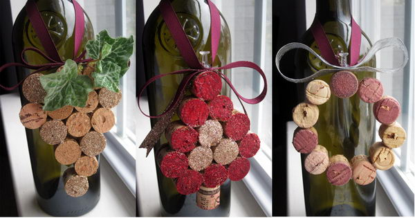 13 wine cork christmas ornaments