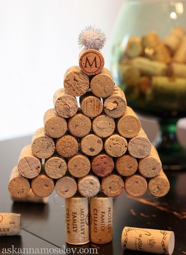 15 wine cork christmas tree