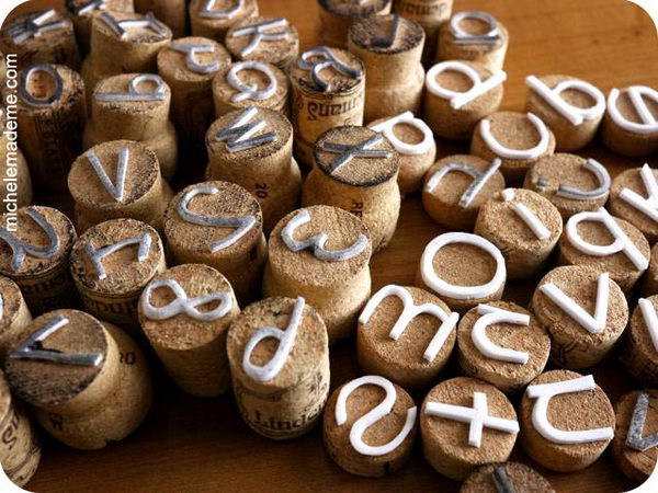19 diy wine cork stamps