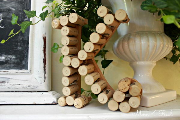 27 monogram with wine corks