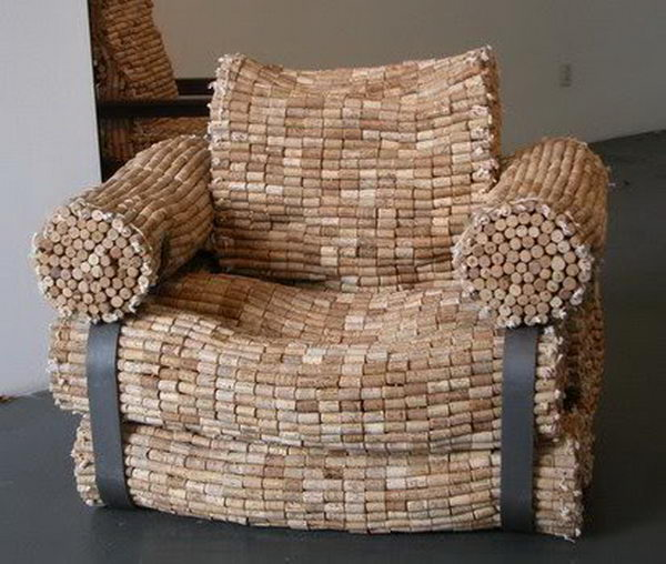 29 wine cork armchair