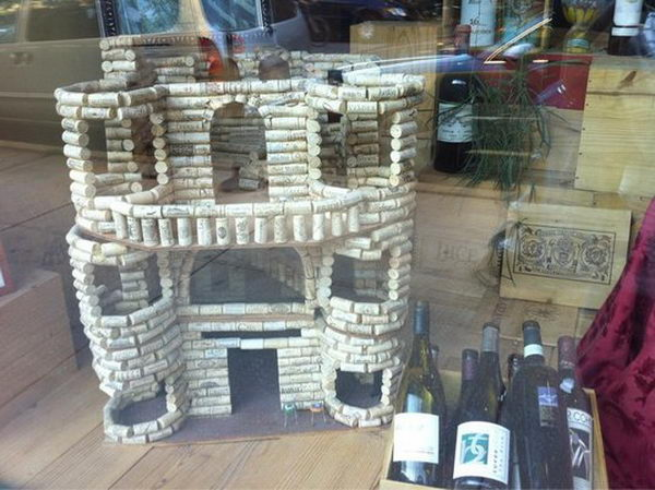 32 wine cork castle