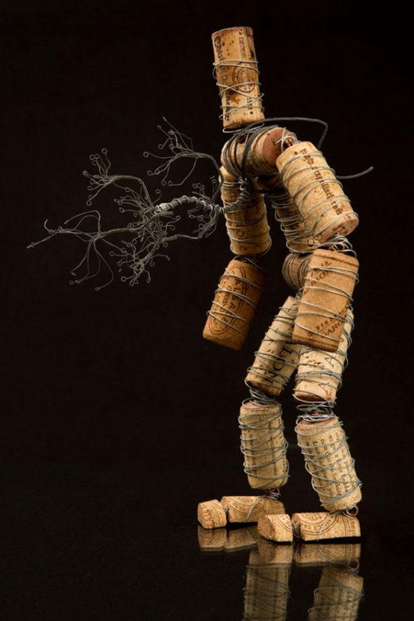 45 wine cork man craft