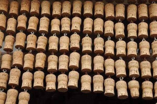 50 homemade wine cork curtain