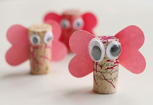 6 diy cork love bugs