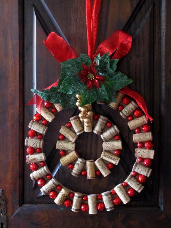 9 wine cork christmas wreath