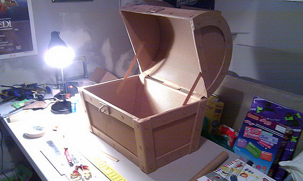 Treasure Chest Cardboard Craft,