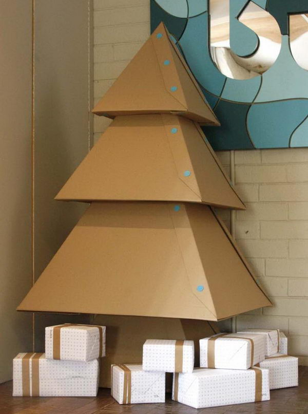 Cardboard Christmas Tree,