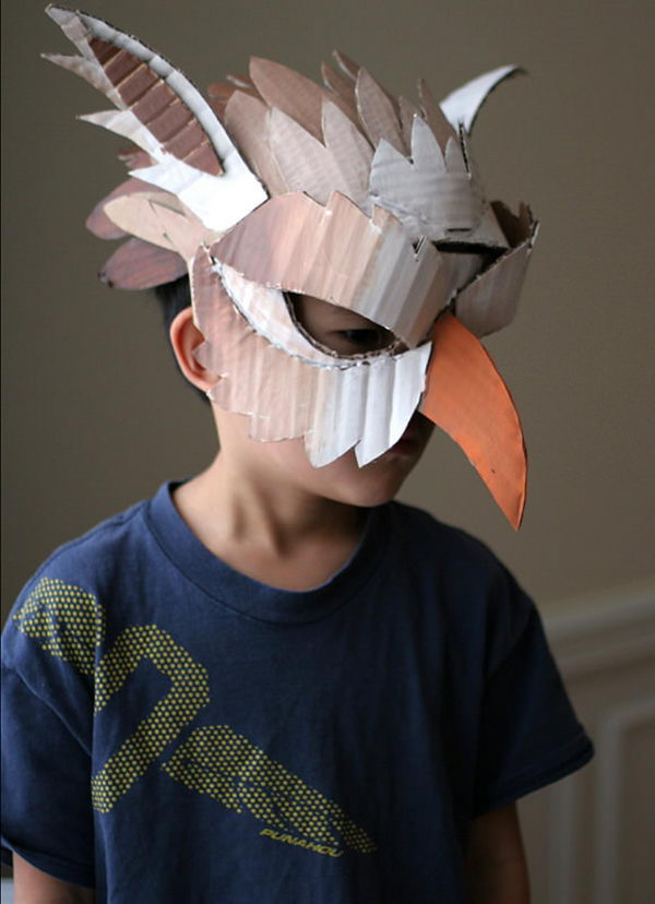 DIY Cardboard Halloween Masks,