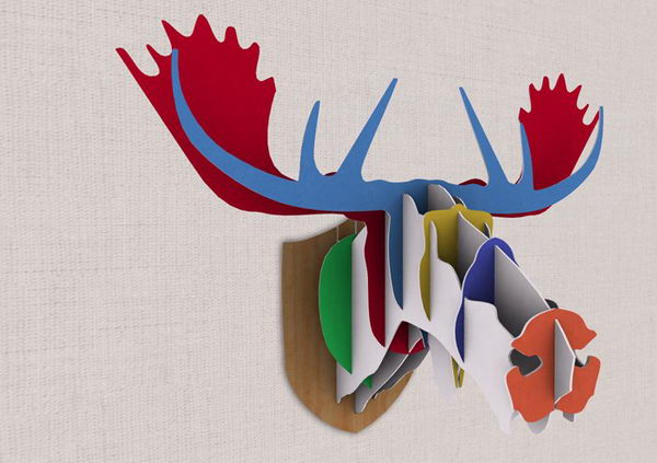 Cardboard Moose Head,