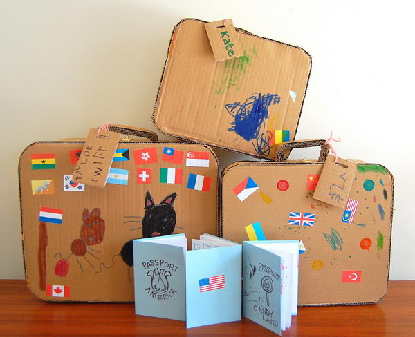 Homemade Cardboard Suitcase,