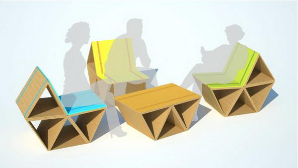 DIY Cardboard Lounge Furniture,