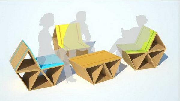 DIY Cardboard Lounge Furniture,