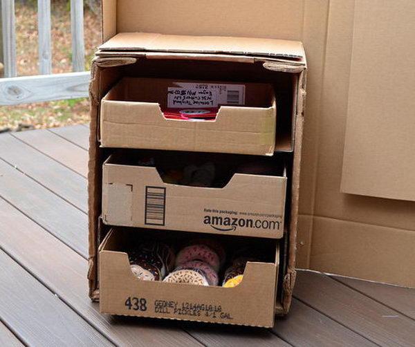 Homemade Cardboard Drawers,