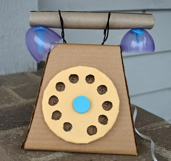 Cardboard Craft Telephone,