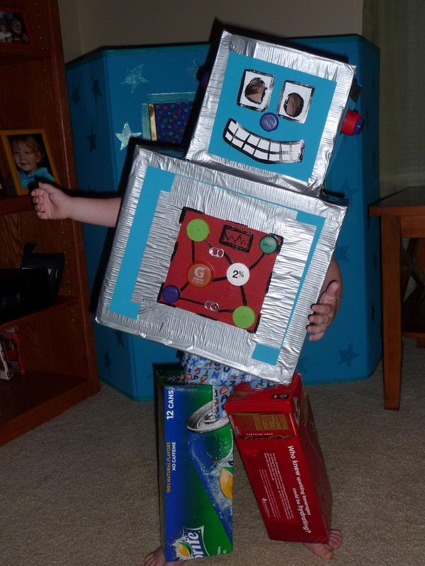 Robot Clothing Cardboard Craft,