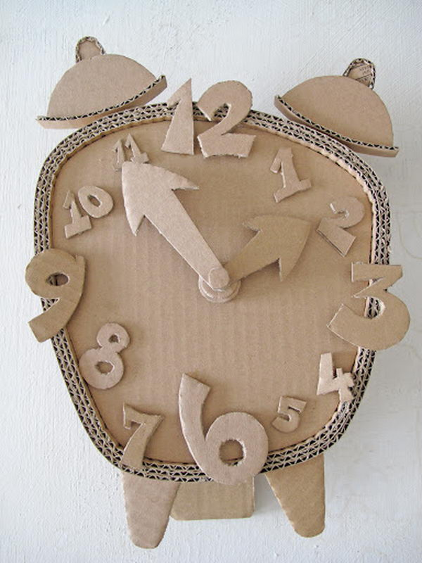 Homemade Cardboard Clock,