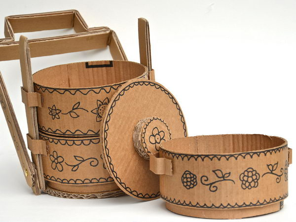 Cardboard Tiffin Carriers,