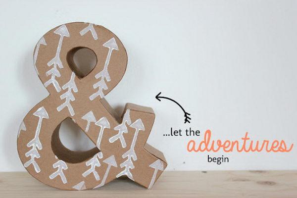 Infinity Love Cardboard Letters,