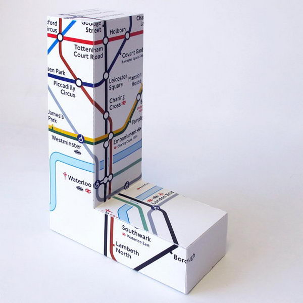 Large London Underground Map 3D Letter,