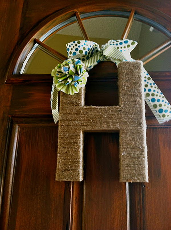 Letter Wrapped with Jute,