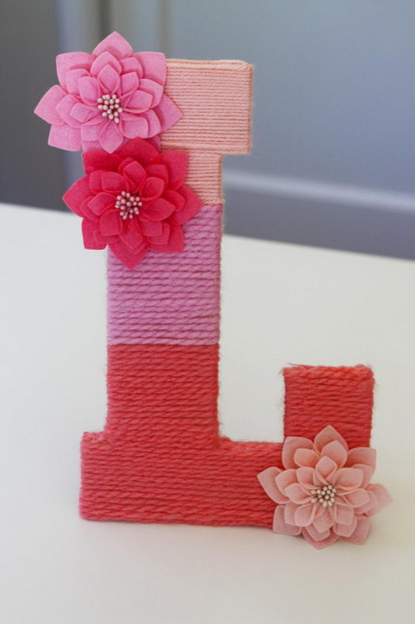 Yarn Wrapped Letter,