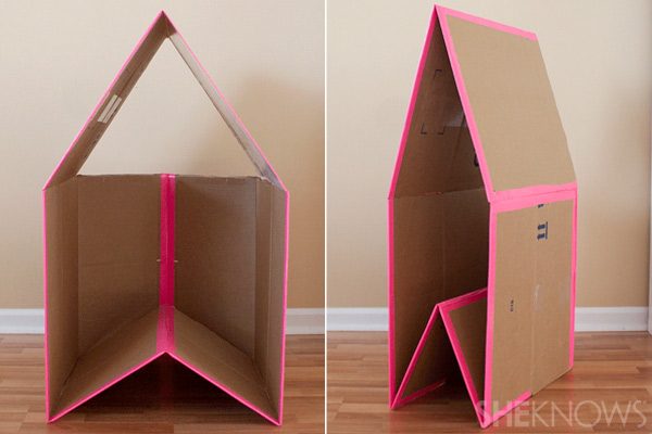 10 diy collapsible cardboard playhouse