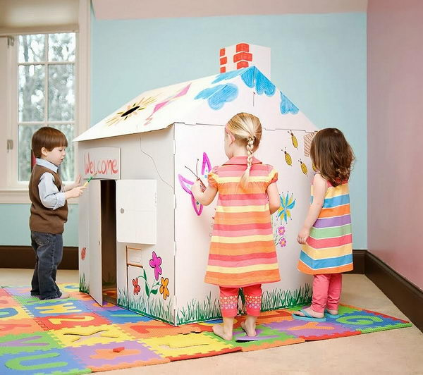 20-homemade-cardboard-playhouse-for-kids