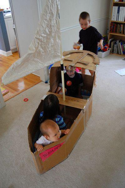 23 homemade cardboard boat