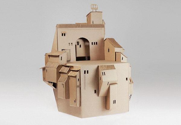 29 cardboard building
