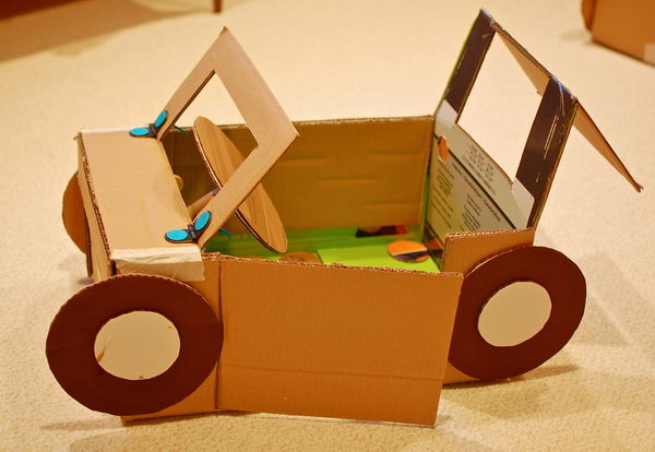9 cardboard car for kids