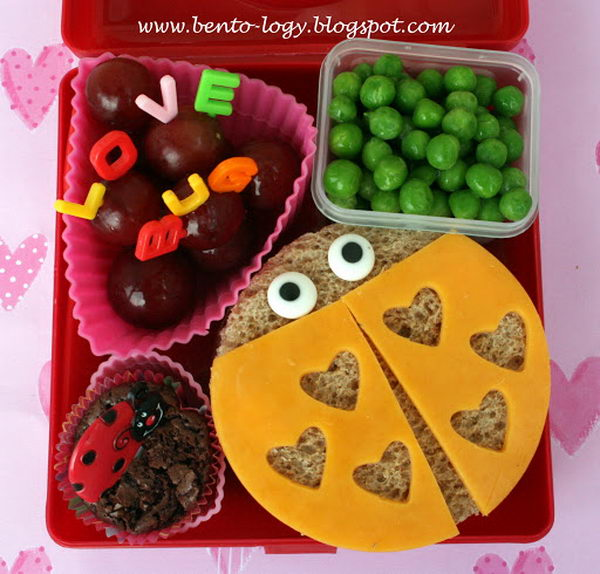 12 love bug lunch box