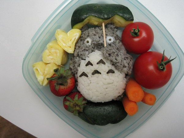 2 totoro lunch box